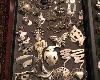 Sterling Pins / Brooches / Marcasite