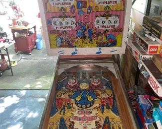 Vintage Pinball machine,  games, puzzles