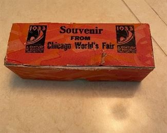 Fort Dearborn Salt & Pepper Shakers from 1933 CHicago World's Fair in box