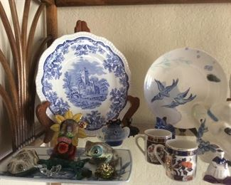 Blue and white asian and Asian inspired decor