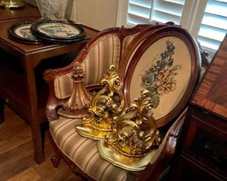 Victorian chair and decor
