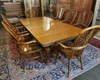 8  Yew wood Windsor chairs Once owned by  Prime Minister Benjamin Disraeli