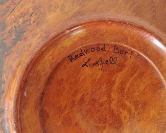 RedWood Burl Plate
