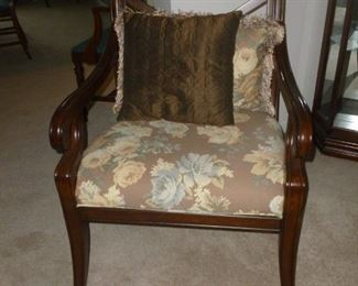One of a pair of beautiful arm chairs