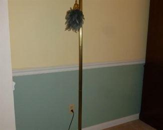 Leaded glass floor lamp