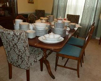 Mahogany Dining Room Table & Chairs