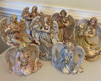 2 Handcrafted Angel Figurines