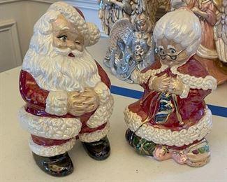 6 Mr. Mrs. Claus Ceramic Figurines