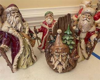 Angry Ceramic Santas