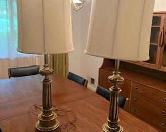Stiffel tall table lamps Circa 1960s