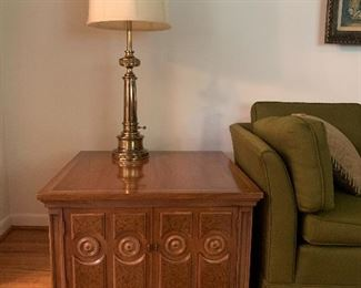 Mediterranean style square end table