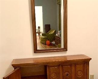 Mediterranean console with mirror