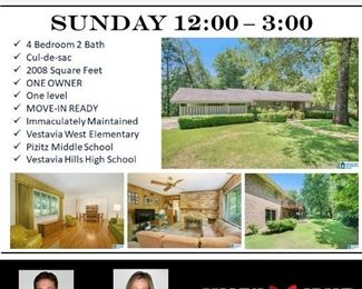2624 Greenmont Circle Open House info