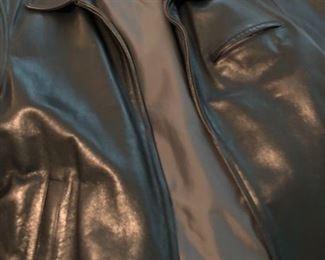004 Black Leather Jacket Large