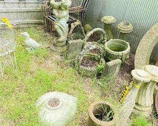 Concrete Yard Art - Bird Baths & Statues