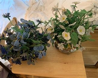Vintage beaded flowers.