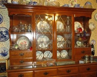 Large maple hutch