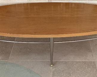 Ethan Allen Art Deco Oval Coffee Table