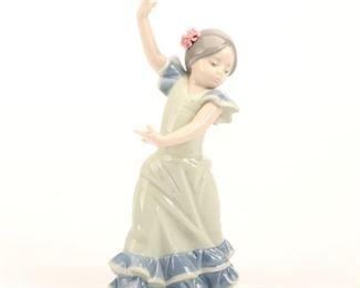 "Lladro ""Lolita Flamenco Blue"" Porcelain Figurine"