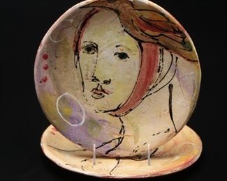 Debra Fritts Hand-Painted Pottery Plates