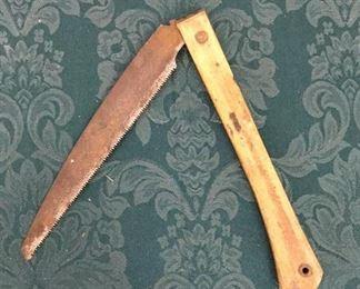 Antique Folding Limb Saw