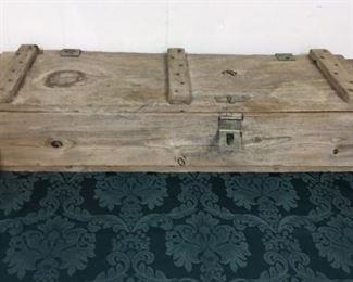 Antique Wood Ammo Box