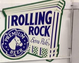 Metal Rolling Rock sign