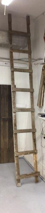 Primitive 12 foot Barn Ladder