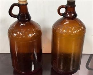 Antique Clorox Bottles with lids