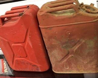 Antique Metal Gasoline cans