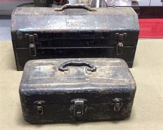 Antique Metal Tool boxes