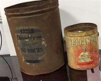 Antique Tin Decanters