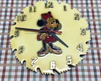 Vintage Minnie Mouse Clock