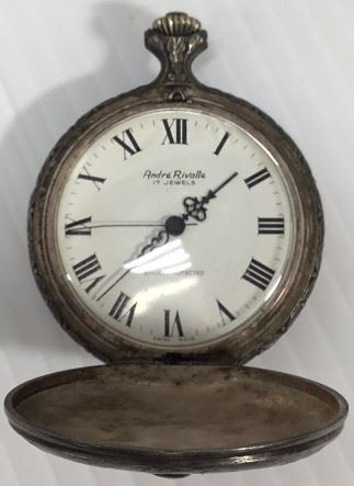 Antique Andre Rivalle Pocket Watch 17 jewels