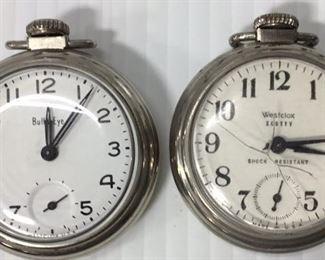 Antique Westclox pocket watches