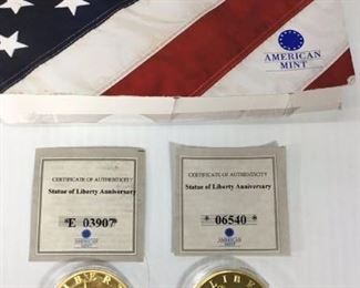 Statue of Liberty Anniversary coins