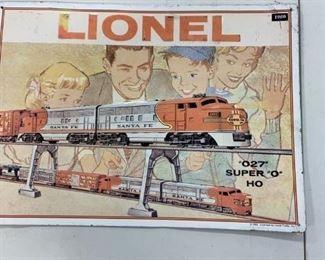 Vintage Lionel Train metal sign