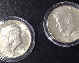 1964 Kennedy Half Dollars