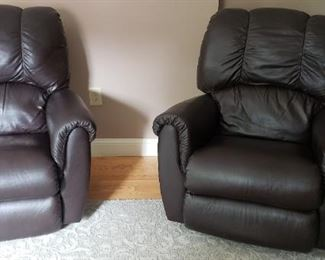 Lazy Boy Leather Recliner and Rocker Recliner
