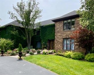 Oak Brook home with Landscaping in full bloom.  Over 7000 Sq. Ft.