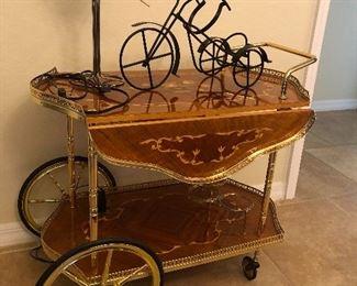 Italian vintage bar cart