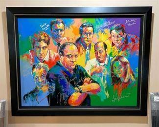 Sopranos artwork signed by cast