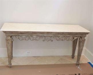 Large ornate hall table