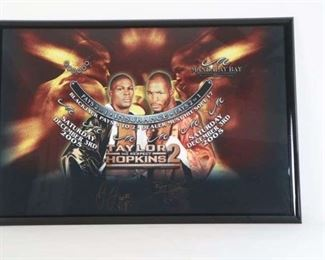 Signed Authentic Black Jack Felt Fight Night Las Vegas