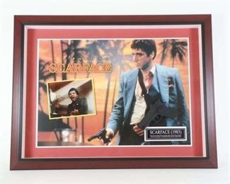 Signed Al Pacino Scarface Memorabilia with COA