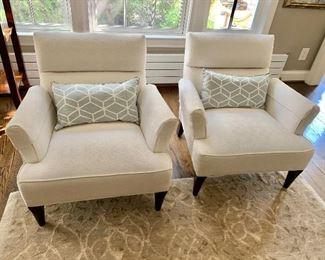 "Custom ""Tribeca"" matching armchairs (Random Harvest)"