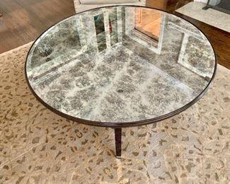 Round mirrored coffee table (Random Harvest)