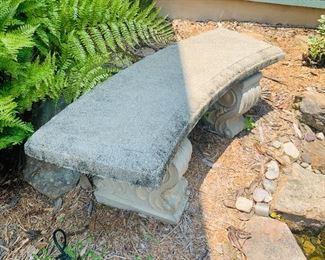 Cement Outdoor Bench