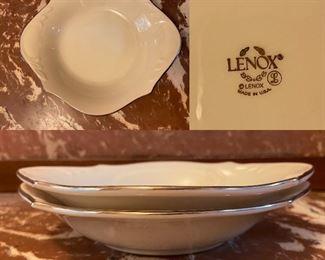 Pair Lenox USA Dishes