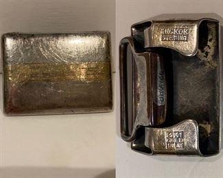 Hickok Sterling 14Kt Gold Overlay Buckle